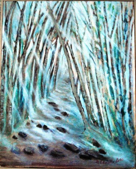 D'Aniello Mario - Un filo di luce, olio tela - 40 X 50