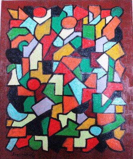 Arzumanyan Aykaz - Vitrail - olio tela - 50 x 60