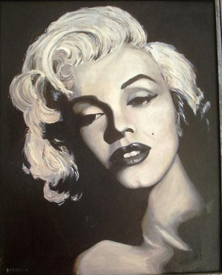 Bernava Angelo - Marylin per sempre - olio tela - 40 X 50