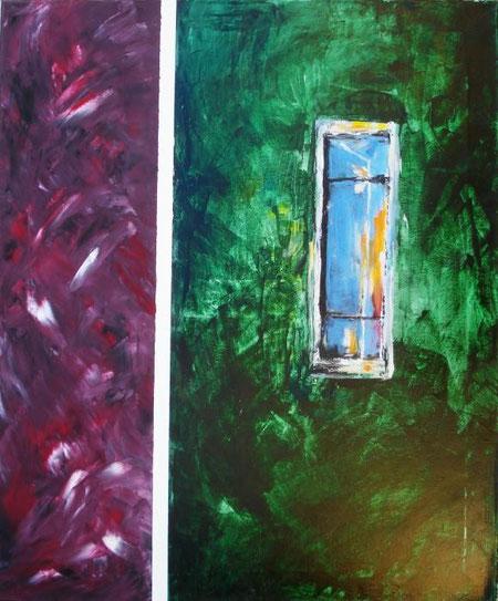Resta Concetta - La finestra del cambiamento - olio tela - 50 X 70