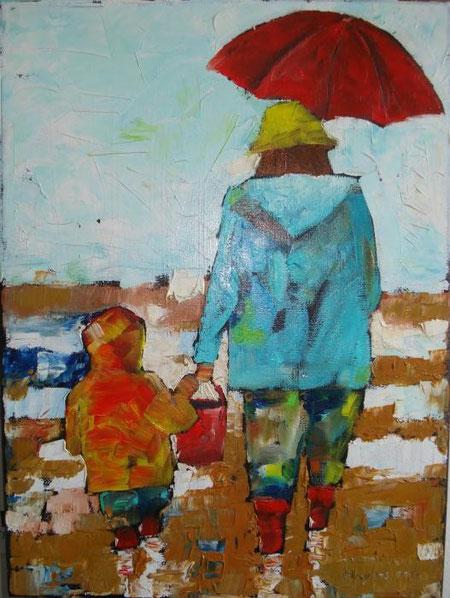 Hajnos Miroslaw - Bretagne - olio tela - 30 x 40
