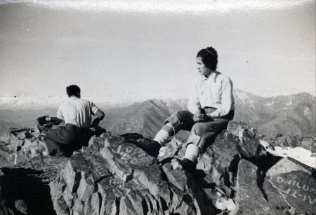 Mi madre, Haydee Hermosilla en la cumbre del cerro La campana.
