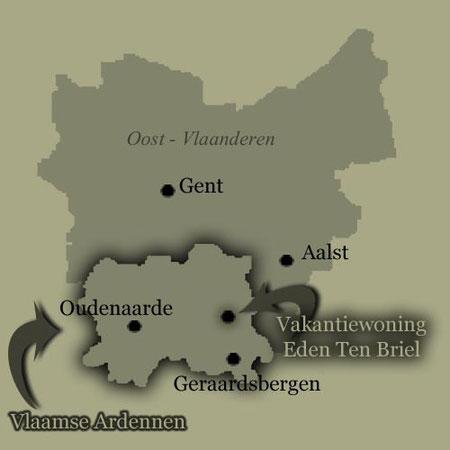 kaart Oost-Vlaanderen