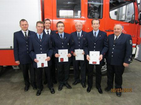 v.l. Volker Eickels, Jürgen Raven, Thomas Müller, Stefan Lingen, Günter Clingen, Thomas Chudziak, Dietmar Gisbertz