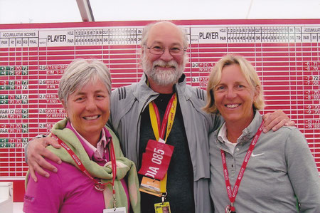 2011.カーヌスティ全英女子オープンにて  リン・マリオット ロン・シラク ピア・ニールソン