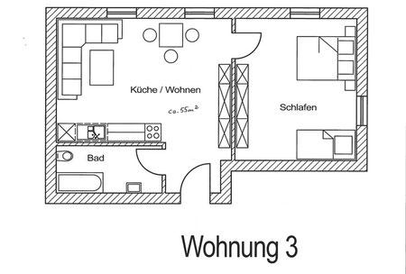 Grundriss Ferienwohnung Lehhof:  Kaltenberg