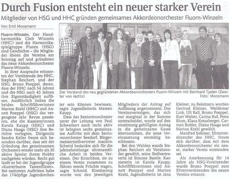 Zeitungsartikel vom 22.03.2011