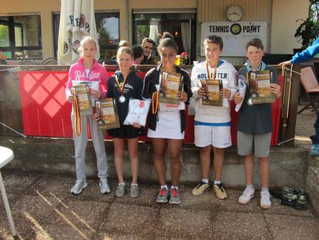 3. Plätze: Nadja Bertuch, Lena Ost Mä12, Anndiyo Inwang Mä14, Julian Müller, Leo Kunstmann Ju12
