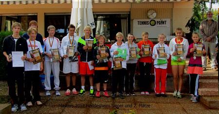 2012 Sieger und Platzierte - Masters Heddesheim -