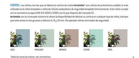 Tipos de vidrio para cortinas de cristal
