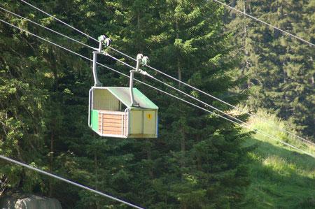 die nicht wirklich bequeme Bahn Alp Äsch-Oberalp