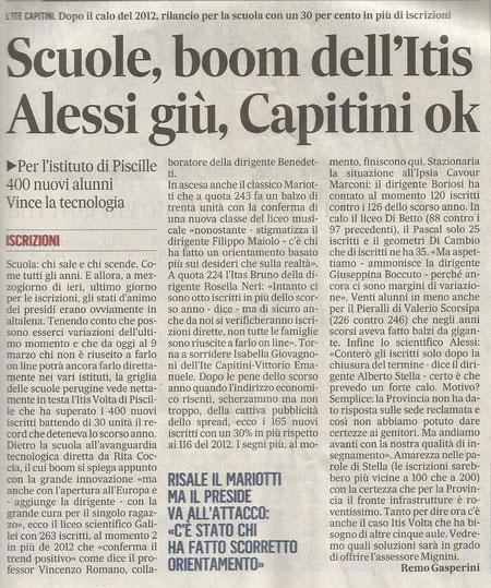 L'articolo è a firma di Remo Gasperini