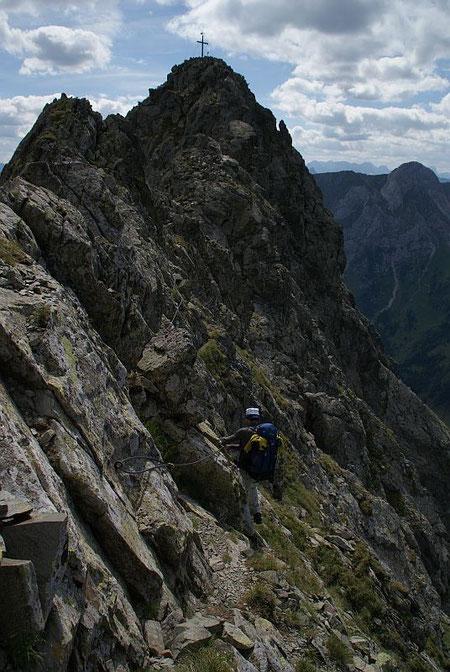 Die letzten Meter über den Ostgrat zur Raudenspitze