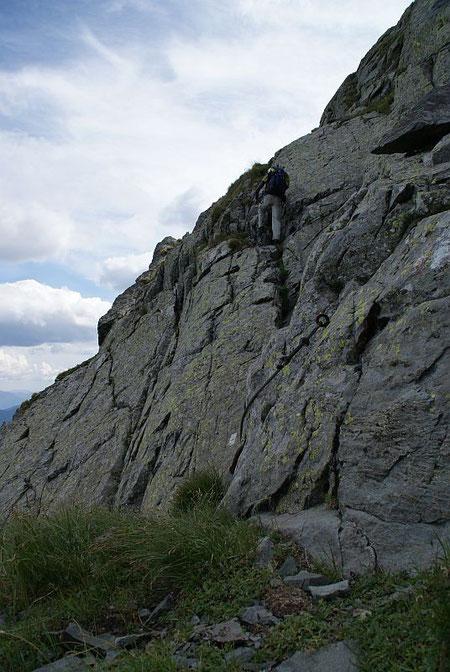 Versichtere Stelle am Weg zur Raudenspitze