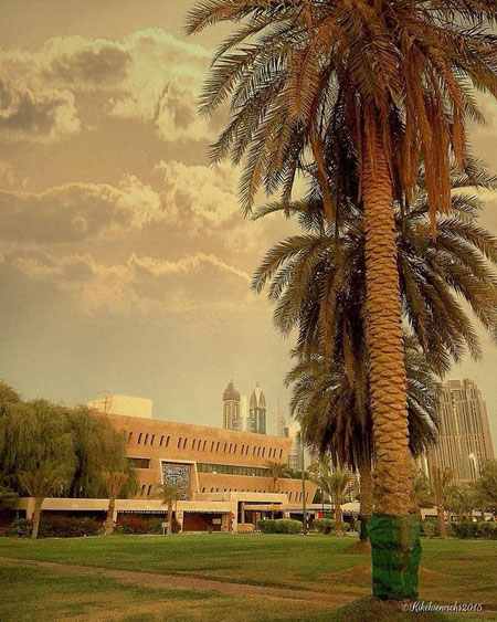 DUBAI PETROLEUM HQ depuis 1978.  ARCHITECTE : VICTOR HANNA BISHARAT (1920-1996)