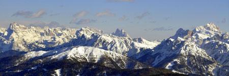 Der Kronplatz mitten in den Dolomiten