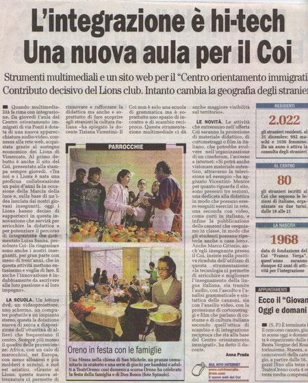 """""""Il cittadino di Monza"""" del 07.02.2010"""