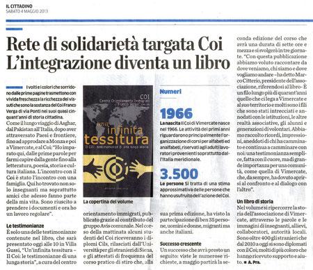 """da """"Il Cittadino"""", 4 Maggio 2013"""