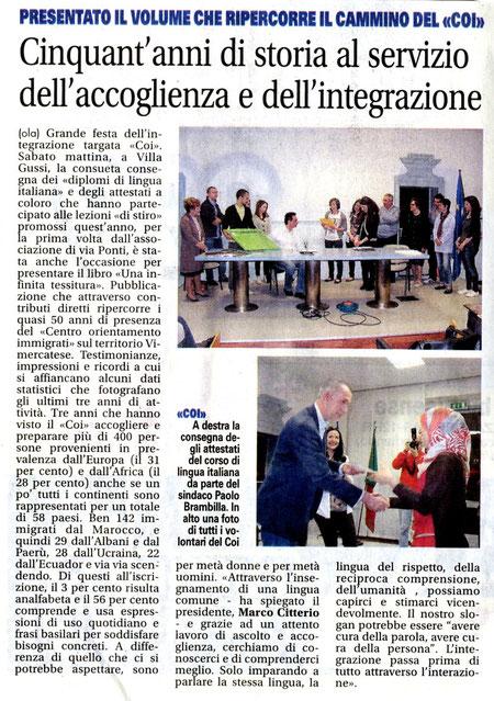 """da """"Il Giornale di Vimercate"""", 5 Maggio 2013"""