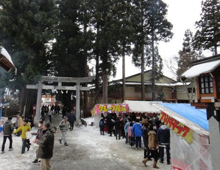 正月 境内の露店