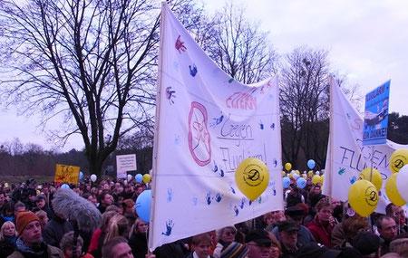 Stahnsdorf gegen Fluglärm Demonstration