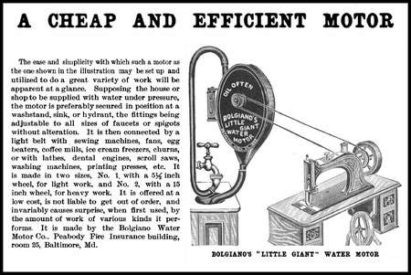 1893 Scientific American Bolgiano's Motor