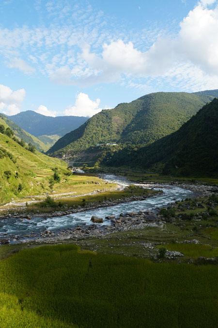 Blick auf den Bheri River