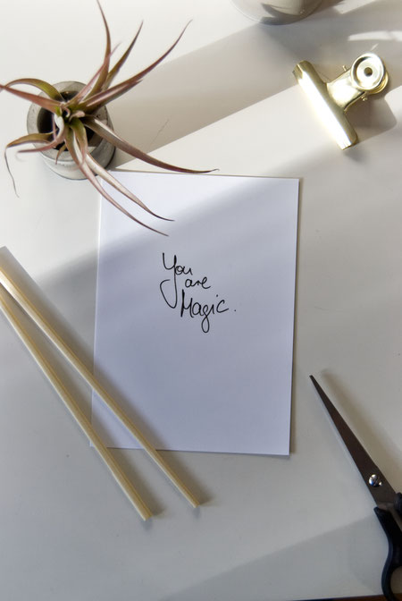 Valentines day free printable by PASiNGA handwritten note 'You Are Magic'