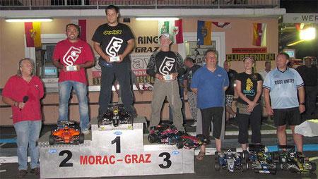 Sieger Stegmayer Hrvoje HR, 2. Mühlwisch Manfred MORAC - Graz, 3ter Day Ivo  MORAC - Graz, 4. Pommer Karl MORAC, 6. Stegmayer Marta HR, 5. Klug Werner MORAC - Graz
