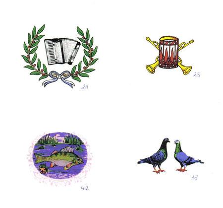 #Dekor für #Handharmonikaverein, #Guggemusik, #Angelsportverein, #Taubenzüchter #kleintierzüchter #angler #hobbyangler