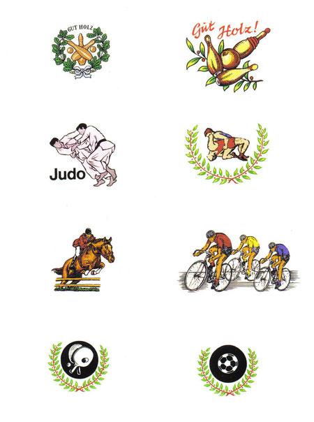 #KeramischeDekore für #Kegelverein #Judoclub #Karate #Ringen #Dressurreiter #Radsport #Tischtennis #Fußball #Handball