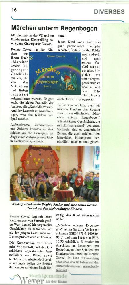 Artikel in Gemeindezeitung I/2012