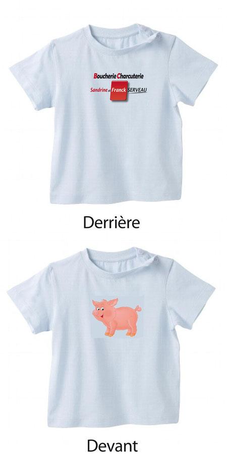 Impression couleur tee-shirts Boucherie Serveau