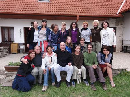Die Gruppe in Babcice 2011, Tschechische Republik.
