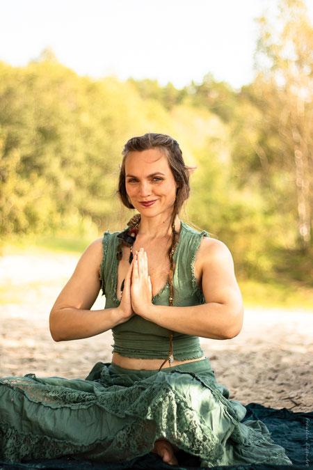 Die Entspannungsfee meditiert
