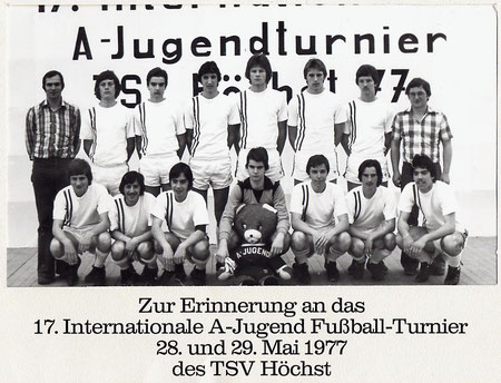 SG SANDBACH  A-Jugend Turnier in Höchst 1977