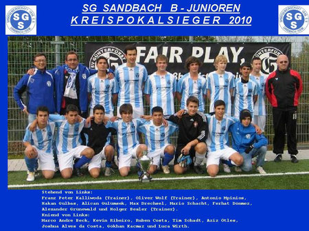 SGS B-Junioren Kreispokalsieger 2010
