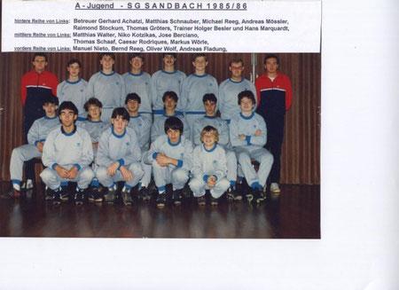 SGS A-Jugend Saison 1985 - 1986