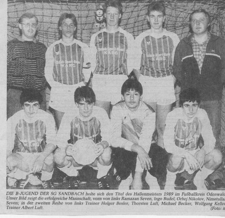 SGS B-Jugend Kreismeister  1988