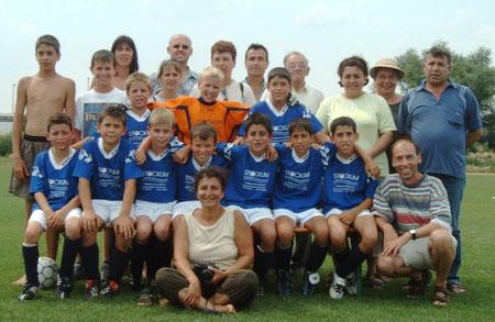 SGS E-Jugend Bezirksmeister 2003 mit Fans