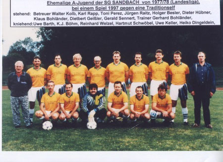 SGS A-Jugend Landesliga Saison 1977 - 1978