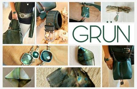 Accessoires in Grün