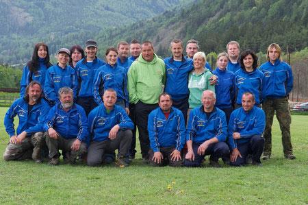 Das Team aus Vahrn mit Bernd Föry und Doreen Lahn