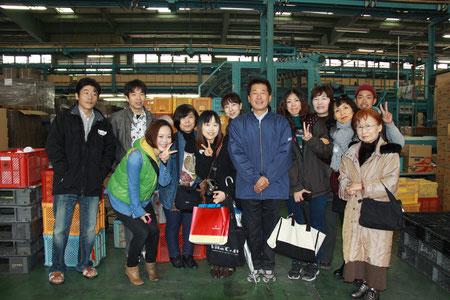 2013年11月 柿の選果場見学!
