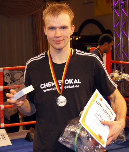 Stefan Härtel Chemiepokalsieger 2012 im Mittelgewicht  -75 kg