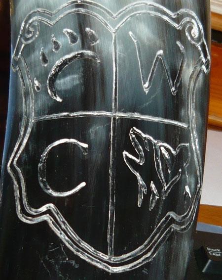 Unser Wappen im Horn