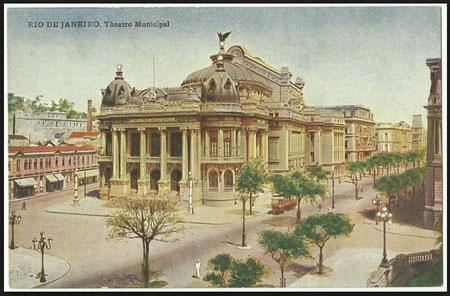 Theatro Municipal in Rio de Janeiro, wo Hedy Brügelmann mehrfach gesungen hat, Postkarte von 1910