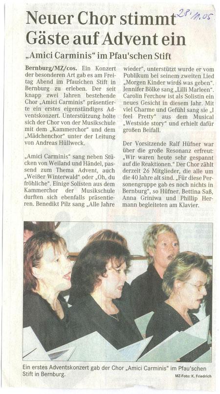 Mitteldeutsche Zeitung 28.November 2005