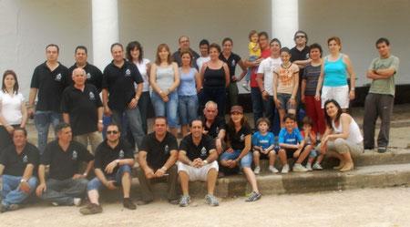 La junta y sus familias en dia de convivencia.