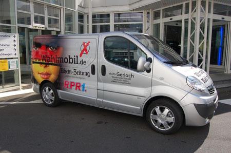 Das ist unser Wahlmobil. Foto: Markus Eschenauer